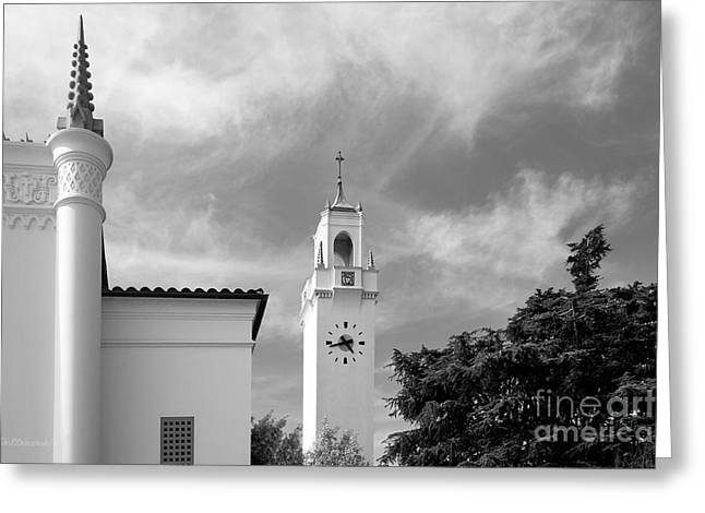 Sacred Greeting Cards - Loyola Marymount University Clock Tower Greeting Card by University Icons