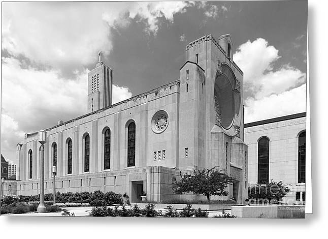 Catholic Art Greeting Cards - Loyola University Madonna Della Strada Chapel Greeting Card by University Icons