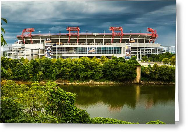 Nashville Tennessee Greeting Cards - LP Field Greeting Card by Ron Pate