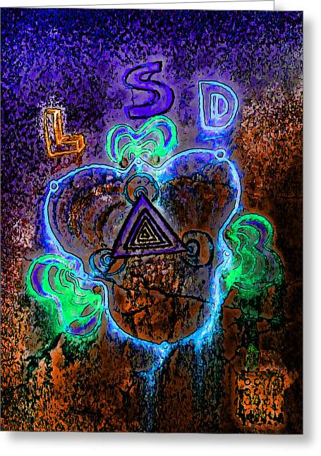 Hallucination Greeting Cards - Lsd Greeting Card by Steve Taylor