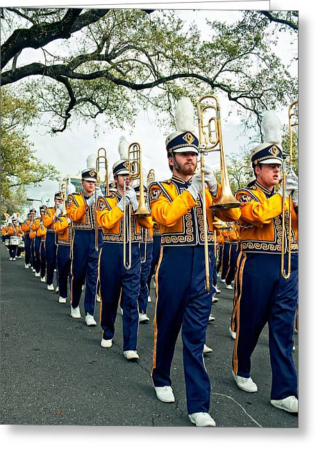 Louisiana State University Greeting Cards - LSU Marching Band 3 Greeting Card by Steve Harrington