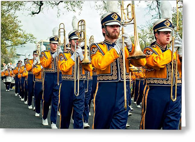 LSU Marching Band 3 Greeting Card by Steve Harrington