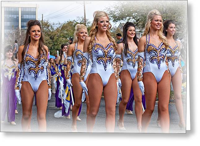 Louisiana State University Greeting Cards - LSU Marching Band 4 Greeting Card by Steve Harrington