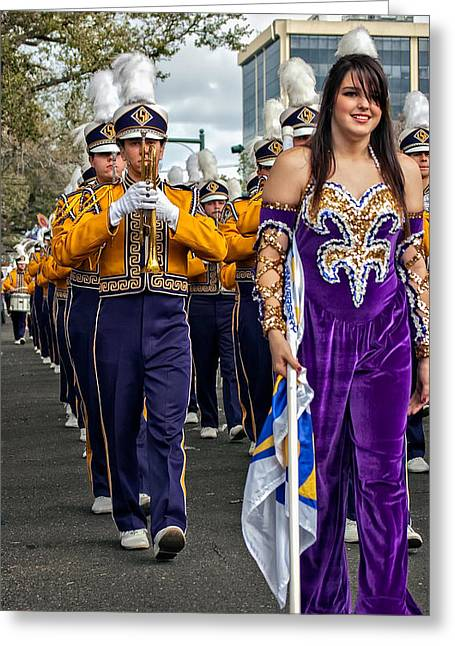 Louisiana State University Greeting Cards - LSU Marching Band 5 Greeting Card by Steve Harrington
