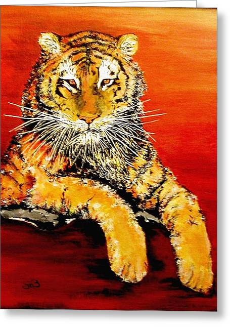 Mike The Tiger Greeting Cards - LSU Tiger Greeting Card by Stephen Broussard