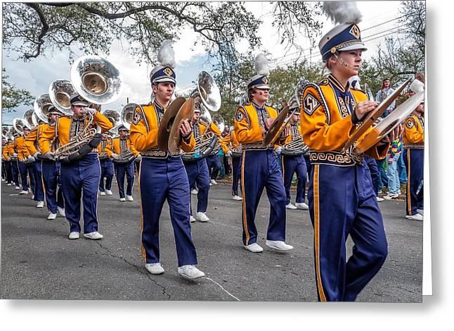 Louisiana State University Greeting Cards - LSU Tigers Band 2 Greeting Card by Steve Harrington