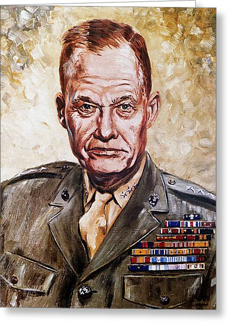 Lewis Puller Greeting Cards - Lt Gen Lewis Puller Greeting Card by Mountain Dreams