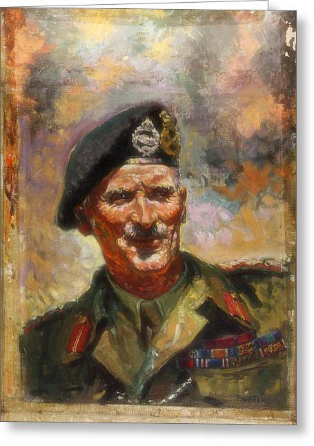 General Concept Greeting Cards - Lt General Sir Bernard Montgomery Greeting Card by Forster