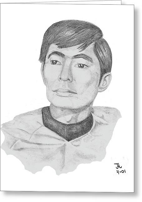 Mccoy Mixed Media Greeting Cards - Lt. Sulu Greeting Card by Thomas J Herring