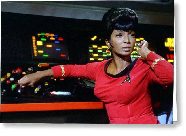 Lt Greeting Cards - Lt Uhura Greeting Card by Mountain Dreams