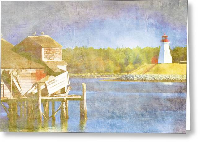 Lubec Greeting Cards - Lubec Maine to Campobello Island Greeting Card by Carol Leigh