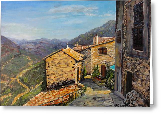 Provence Village Greeting Cards - Luberon Village Greeting Card by Brent Arlitt