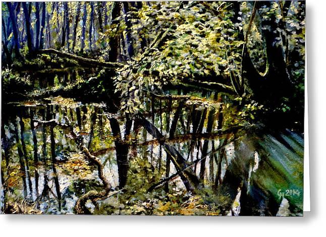 Gorecki Greeting Cards - Lubianka-4 Mystery of Swamp Forest Greeting Card by Henryk Gorecki