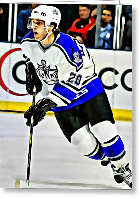 Detroit Legends Greeting Cards - Luc Robitaille Greeting Card by Florian Rodarte
