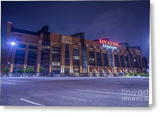 Indiana Art Greeting Cards - Lucas Oil Stadium Indianapolis Colts Greeting Card by David Haskett