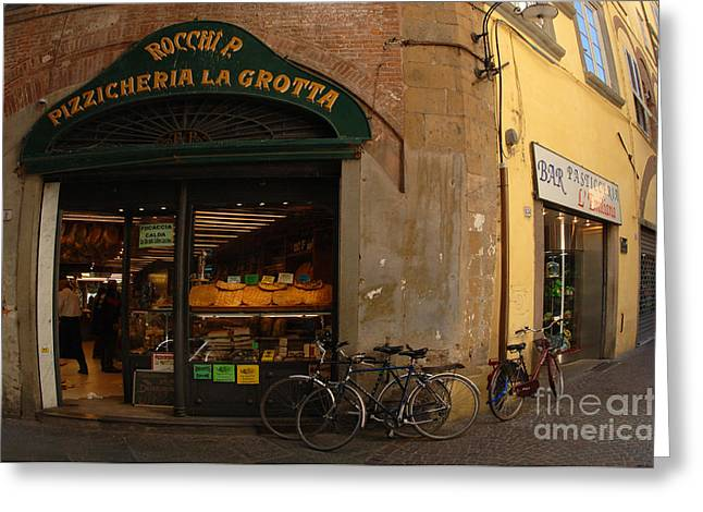 Lucca Italy Greeting Card by Bob Christopher