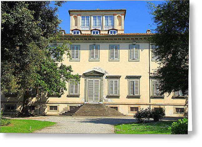 Lucca Greeting Cards - Lucca Villa Greeting Card by Valentino Visentini