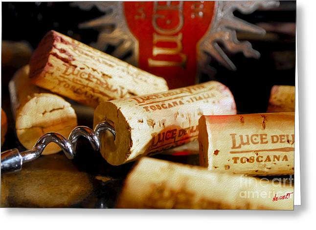 Lucente Corks Greeting Card by Jon Neidert