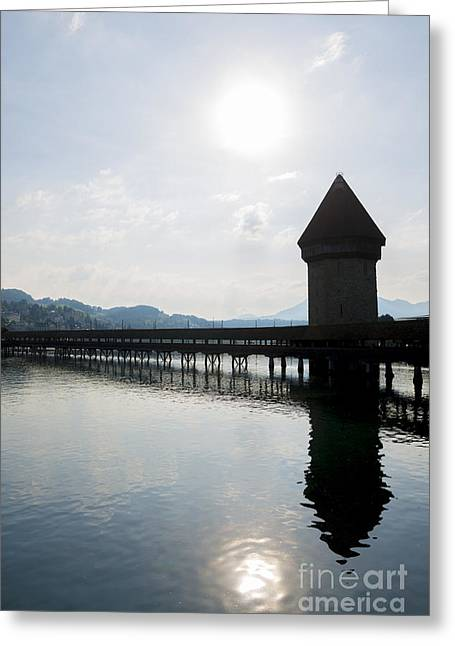 Reuss Greeting Cards - Lucerne - Switzerland Greeting Card by Mats Silvan