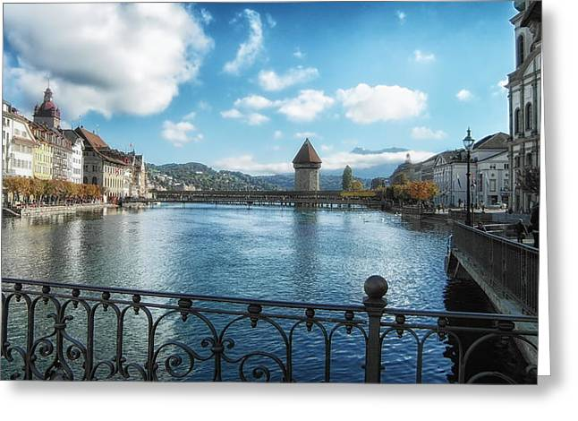 Lucerne Greeting Cards - Lucerne in Autumn Greeting Card by Mountain Dreams