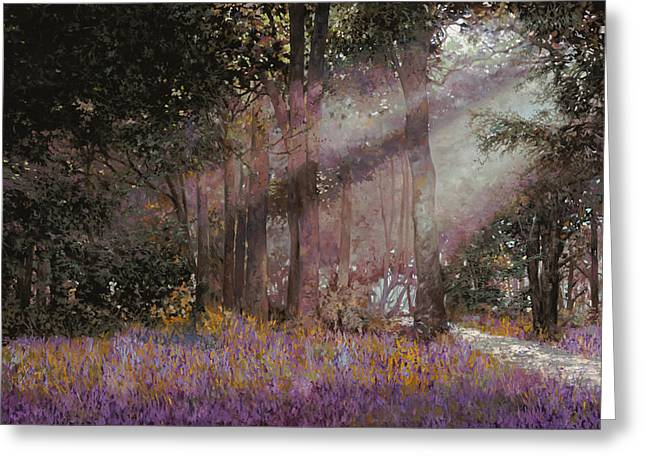 Shadows Greeting Cards - Luci Greeting Card by Guido Borelli