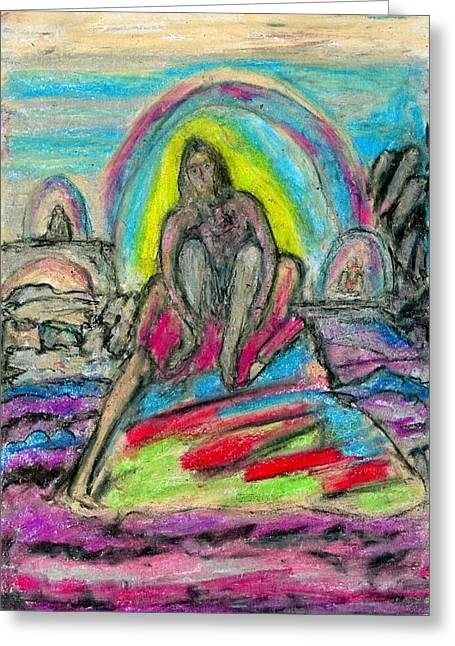 Concentration Pastels Greeting Cards - Lucid Vision Greeting Card by Yuri Lushnichenko