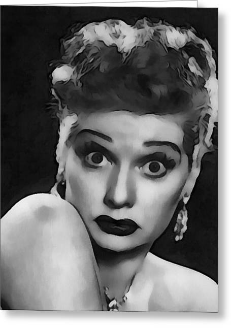 Comedian Digital Greeting Cards - Lucille Ball Greeting Card by Dan Sproul