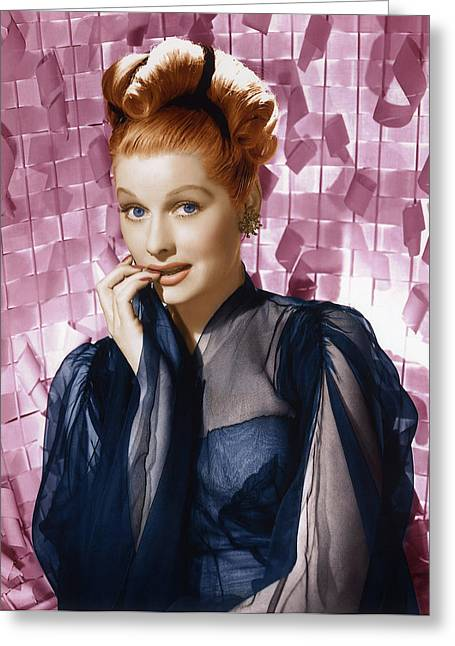 Comedian Greeting Cards - Lucille Ball Glamour Portrait. Greeting Card by Nomad Art And  Design