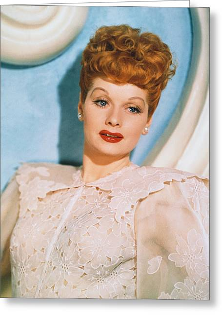 I Love Lucy Greeting Cards - Lucille Ball in Lover Come Back Greeting Card by Nomad Art And  Design