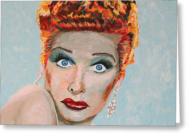 Lucille Greeting Cards - Lucille Ball Portrait Greeting Card by Robert Yaeger
