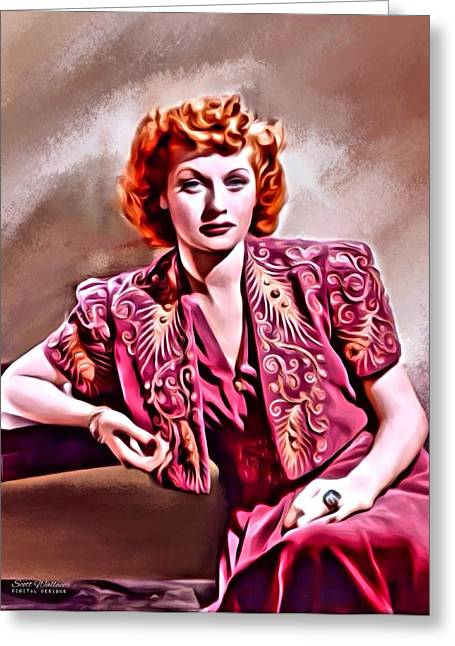 Lucille Greeting Cards - Lucille Ball Greeting Card by Scott Wallace