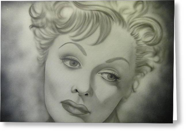 Lucille Greeting Cards - Lucille Ball The Early Years Series Ii Greeting Card by Shawn Hughes