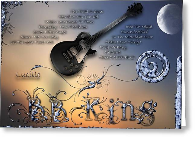 Rhythm And Blues Digital Art Greeting Cards - Lucille Greeting Card by Michael Damiani