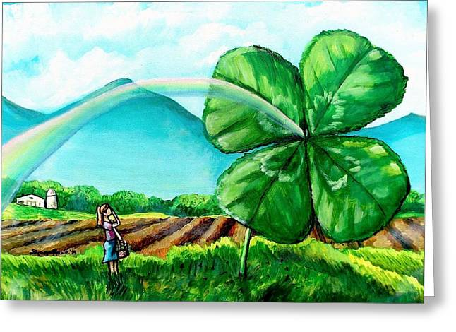Luck Of The Dale Greeting Card by Shana Rowe Jackson