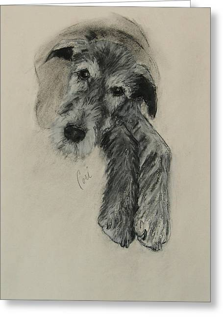 Hound Pastels Greeting Cards - Luck Of The Irish Greeting Card by Cori Solomon
