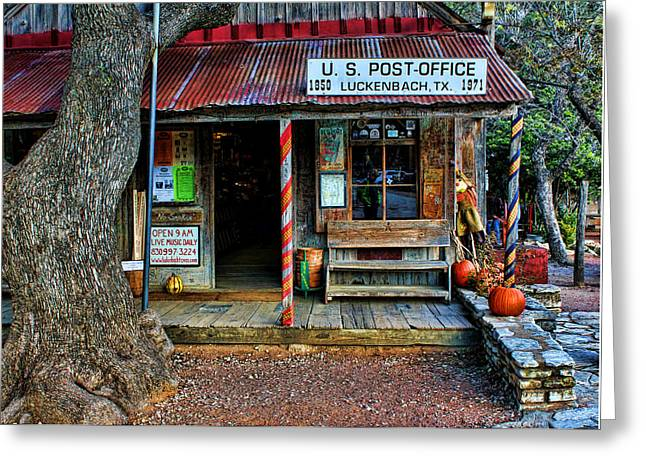 Historic Country Store Greeting Cards - Luckenbach TX Greeting Card by Judy Vincent
