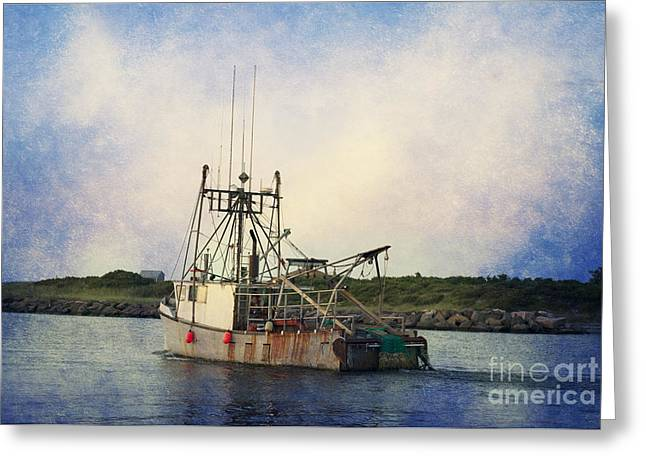 Shrimp Boat Captains Greeting Cards - Lucky Catch Greeting Card by A New Focus Photography