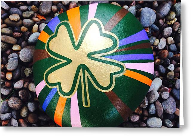 Print Ceramics Greeting Cards - Lucky Charm Greeting Card by Nick Osipczak