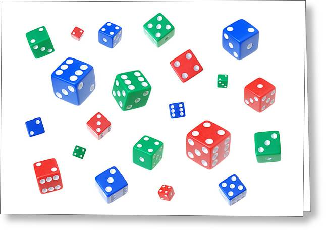 Eleven Greeting Cards - Lucky dice Greeting Card by Jim Hughes