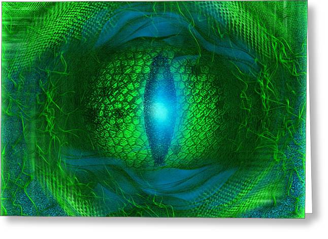 Artprint Greeting Cards - Lucky Dragons Eye - abstract art by Giada Rossi Greeting Card by Giada Rossi