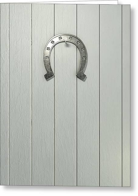 Good Luck Greeting Cards - Lucky Horseshoe Entrance Greeting Card by Allan Swart