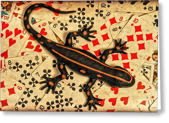 Blackjack Greeting Cards - Lucky Greeting Card by Jeff  Gettis