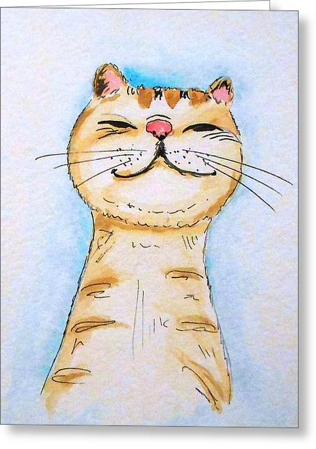 Frohe Greeting Cards - Lucky stripes Kitten Greeting Card by Rita Drolet