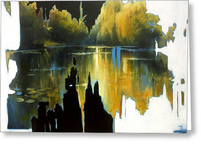 Lin Petershagen Greeting Cards - Lucky Lake Greeting Card by Lin Petershagen