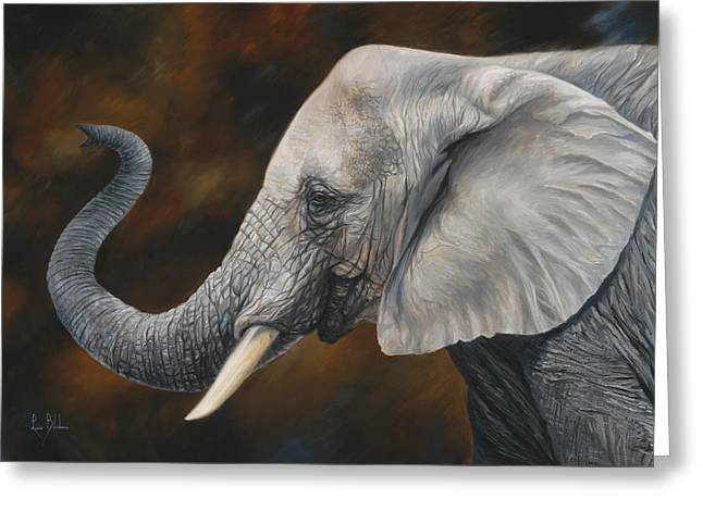 African Elephants Greeting Cards - Lucky Greeting Card by Lucie Bilodeau