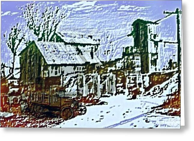 Mining Photos Digital Greeting Cards - Lucky nunber seven mine Greeting Card by Larry E Lamb