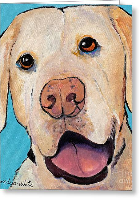 Dog Images Greeting Cards - Lucky Greeting Card by Pat Saunders-White