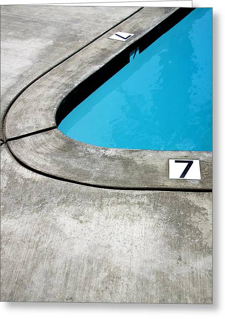 Southern Ca Greeting Cards - LUCKY SEVENS Palm Springs Greeting Card by William Dey