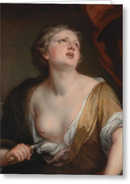 Lucretia Greeting Card by Godfrey Kneller