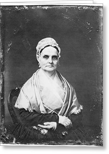 Quaker Greeting Cards - Lucretia Mott (1793-1880) Greeting Card by Granger